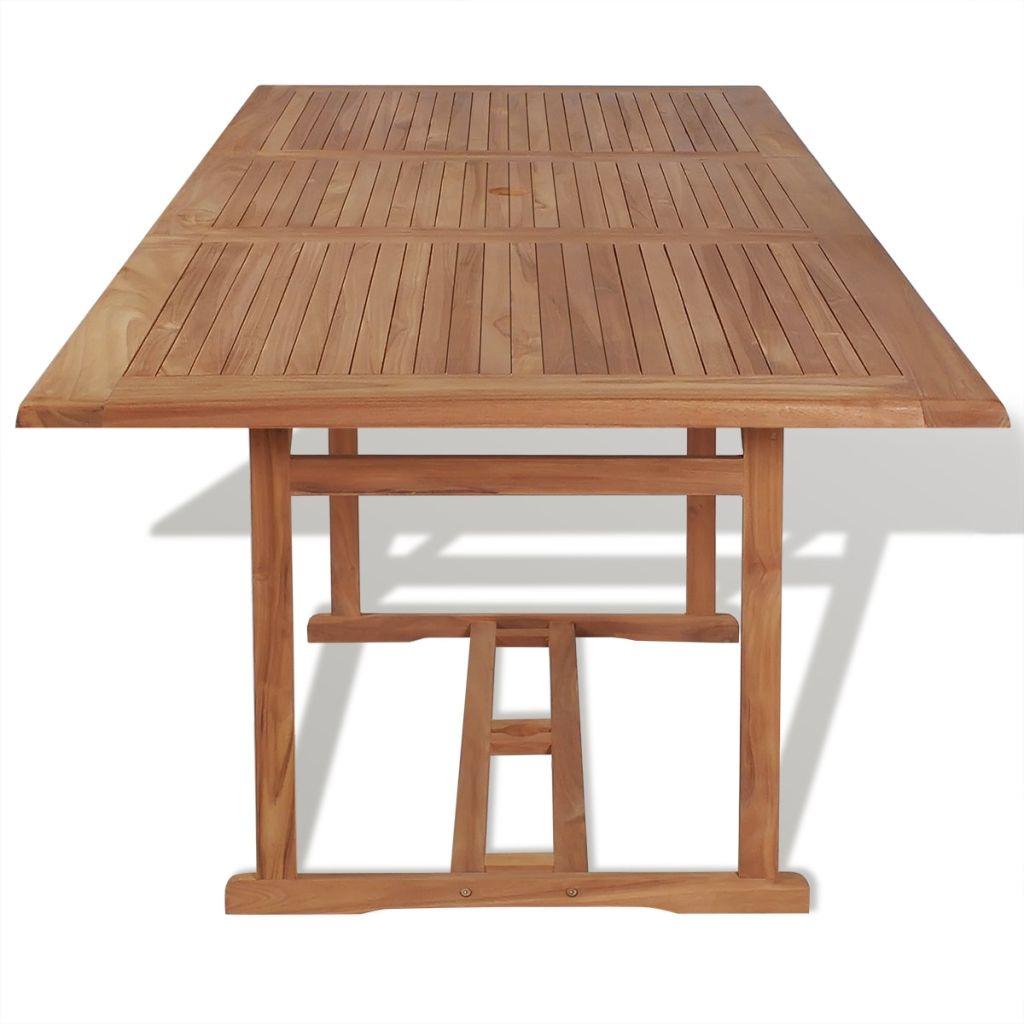 table manger rectangulaire d 39 ext rieur 240x90x75 cm teck. Black Bedroom Furniture Sets. Home Design Ideas