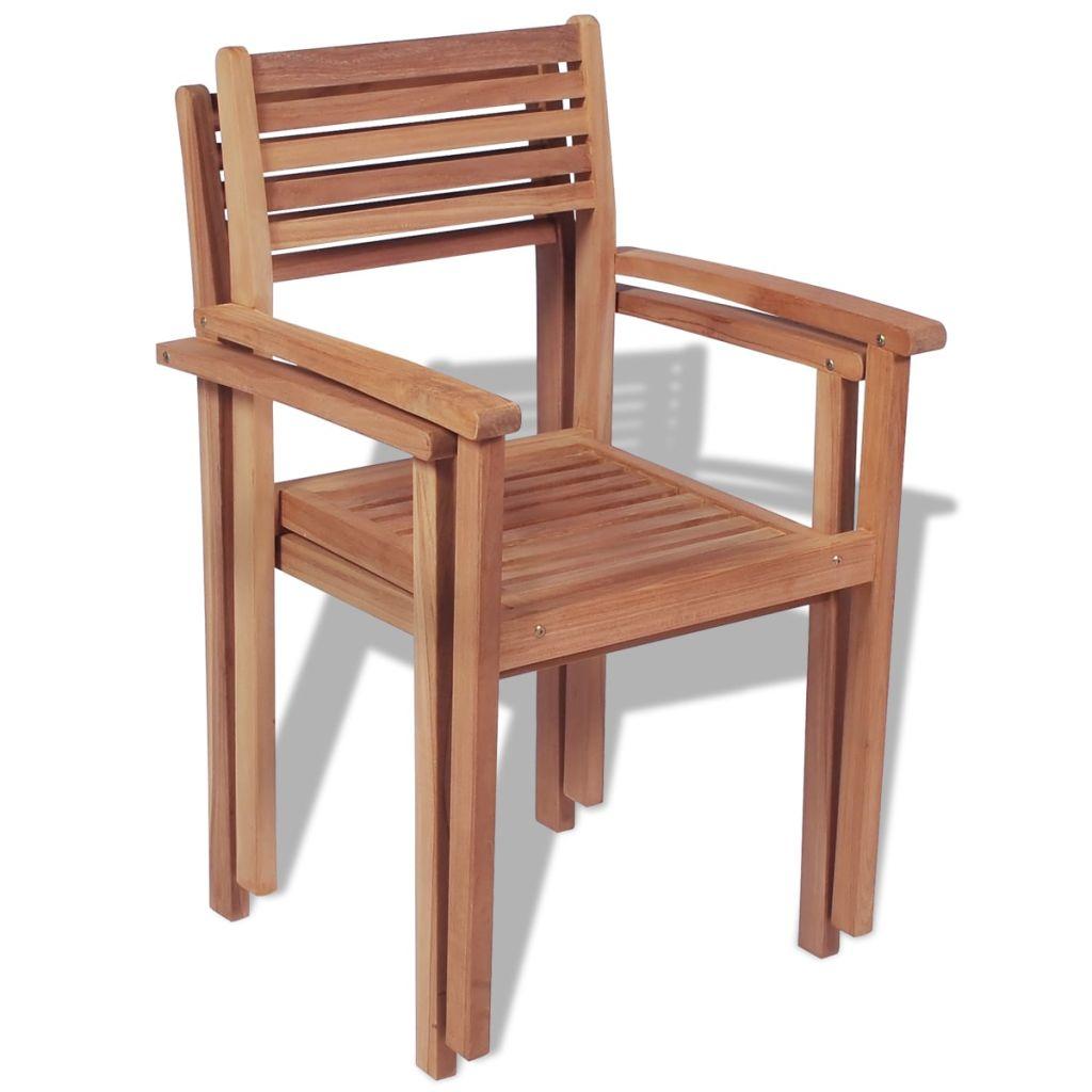 chaises d 39 ext rieur en teck lot de 2. Black Bedroom Furniture Sets. Home Design Ideas