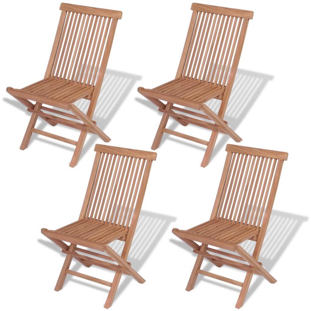 Dès 149.00€, Lot de 4 chaises pliantes de jardin Teck massif ...