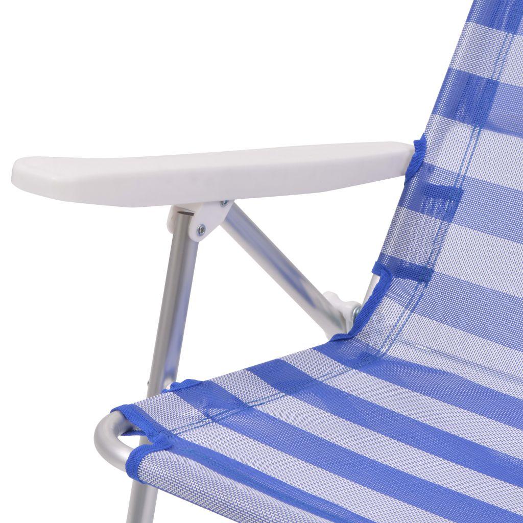 chaise pliante de camping 2 pcs bleu aluminium 100x64x26 cm. Black Bedroom Furniture Sets. Home Design Ideas