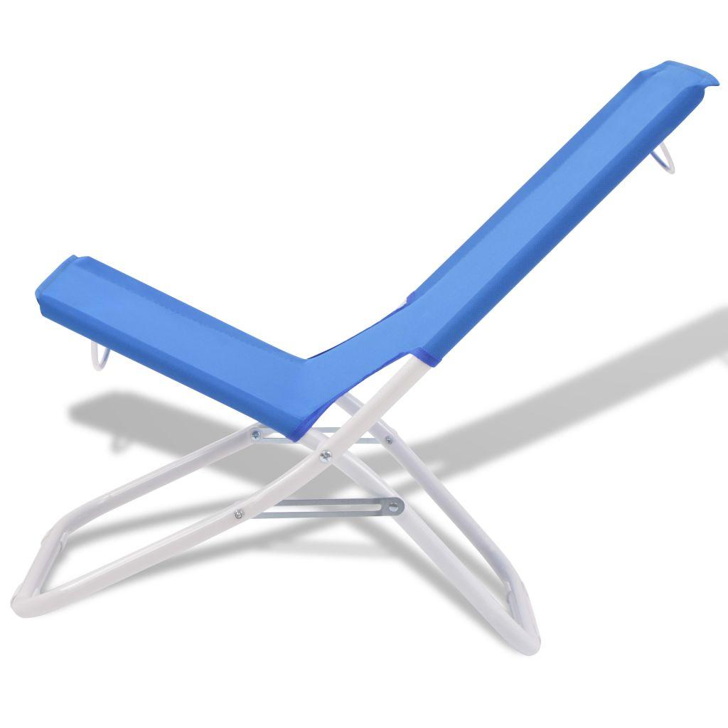 59 99€Chaise Cm Plage Pliante Bleu Acier Pcs Camping 2 De Dès 48x60x62 3RjA4L5