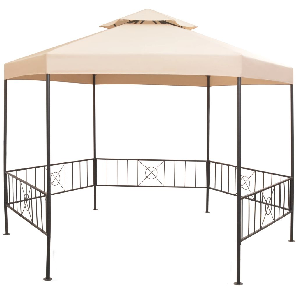 Dès 209.99€, Tente de jardin Hexagonal Beige - Interougehome.com
