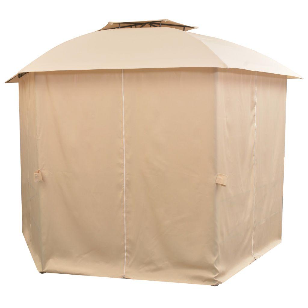 Tente de jardin hexagonale avec rideaux à seulement 259.00€ sur ...