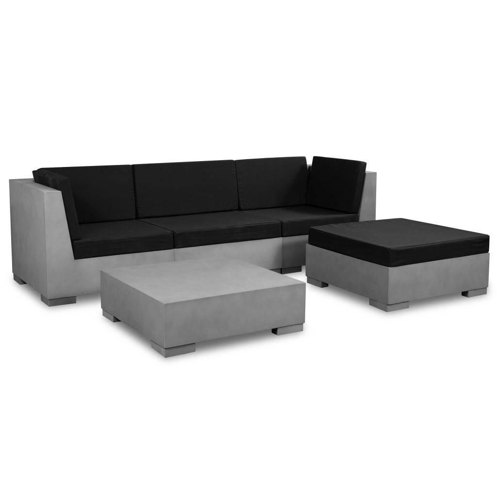 salon de jardin 4 5 personnes imitation b ton. Black Bedroom Furniture Sets. Home Design Ideas