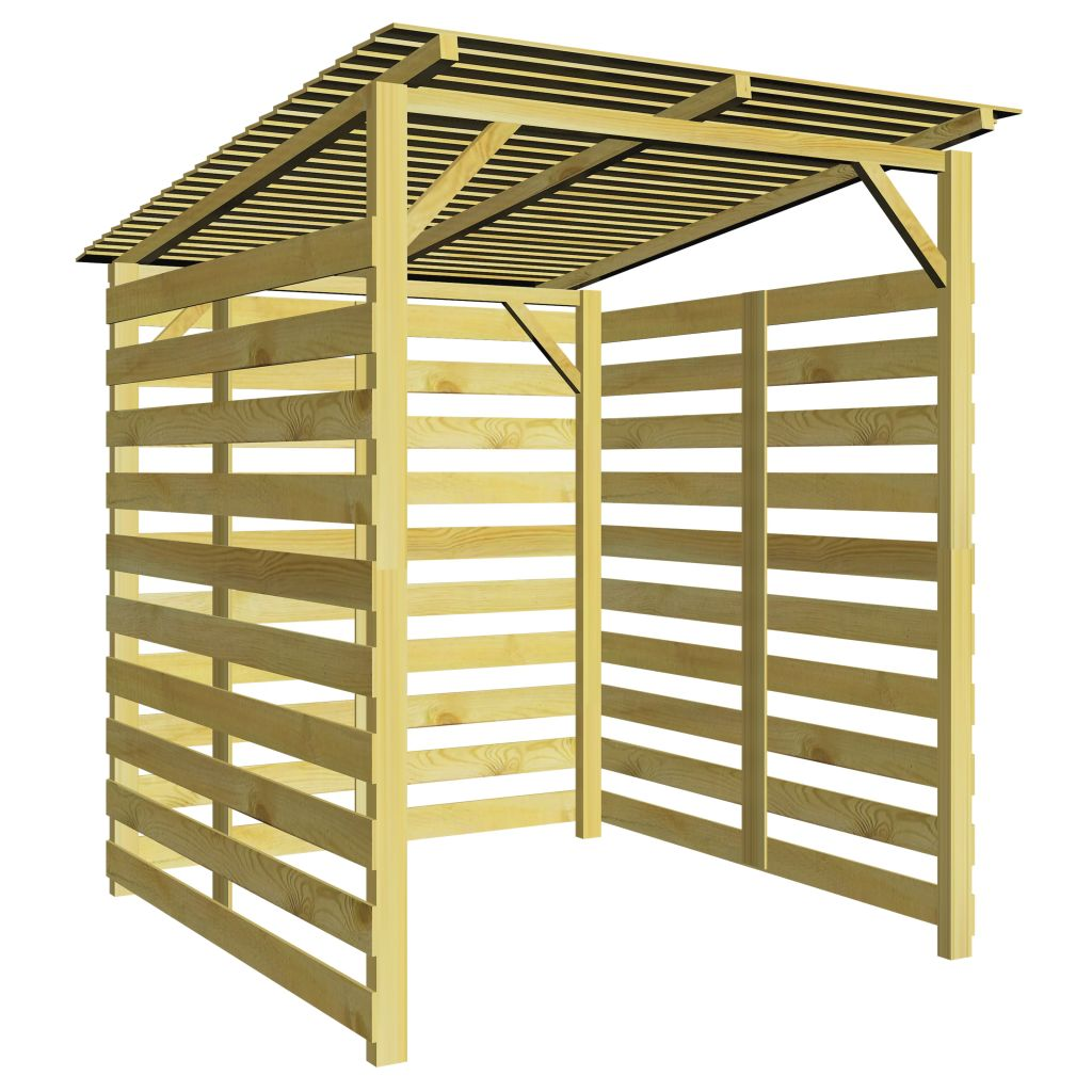 abri stockage du bois pergola en pin 1 7x2x2m. Black Bedroom Furniture Sets. Home Design Ideas