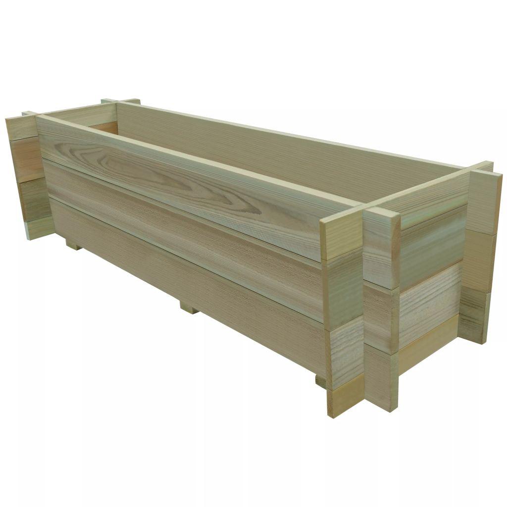 jardini re bac fleur pot de l gumes en bois de pin. Black Bedroom Furniture Sets. Home Design Ideas