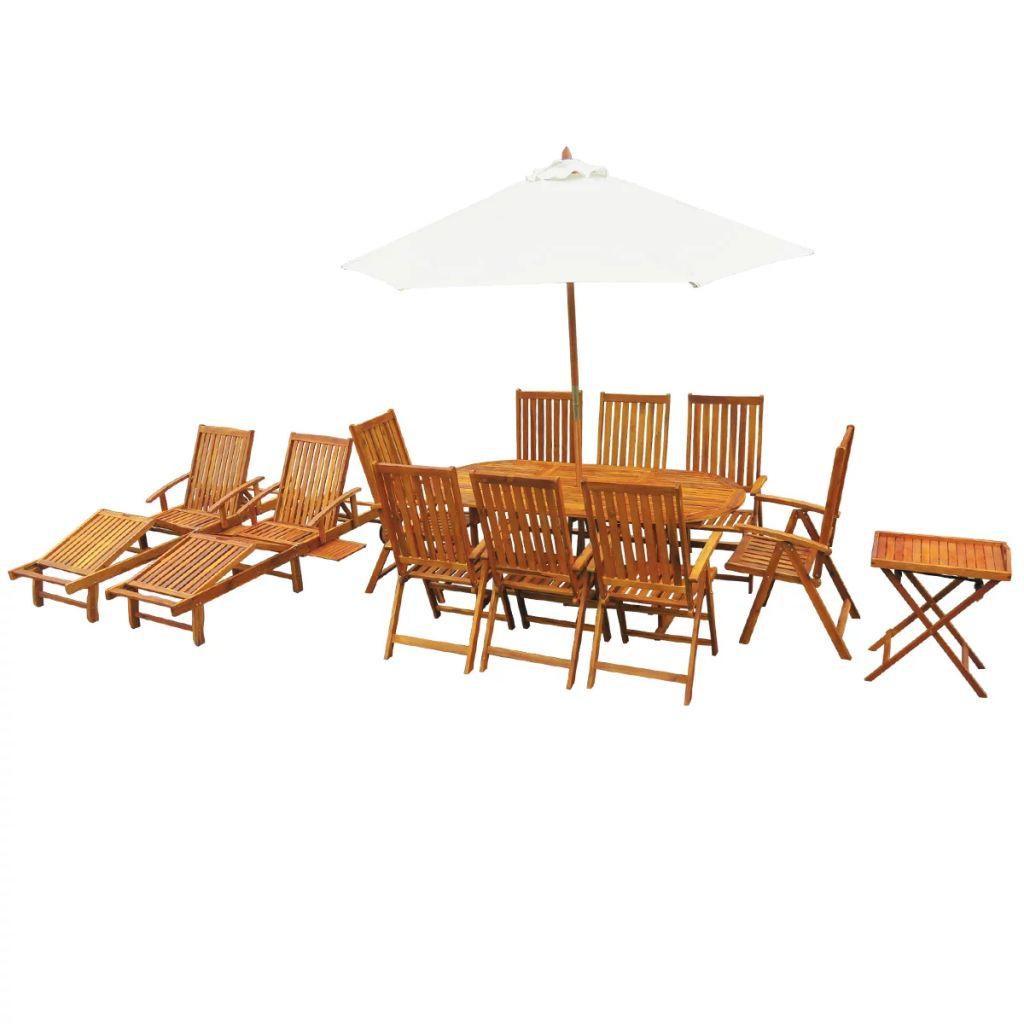 Dès 959.99€, Ensemble de mobilier de jardin - Bois d\'acacia massif -  Interougehome.com