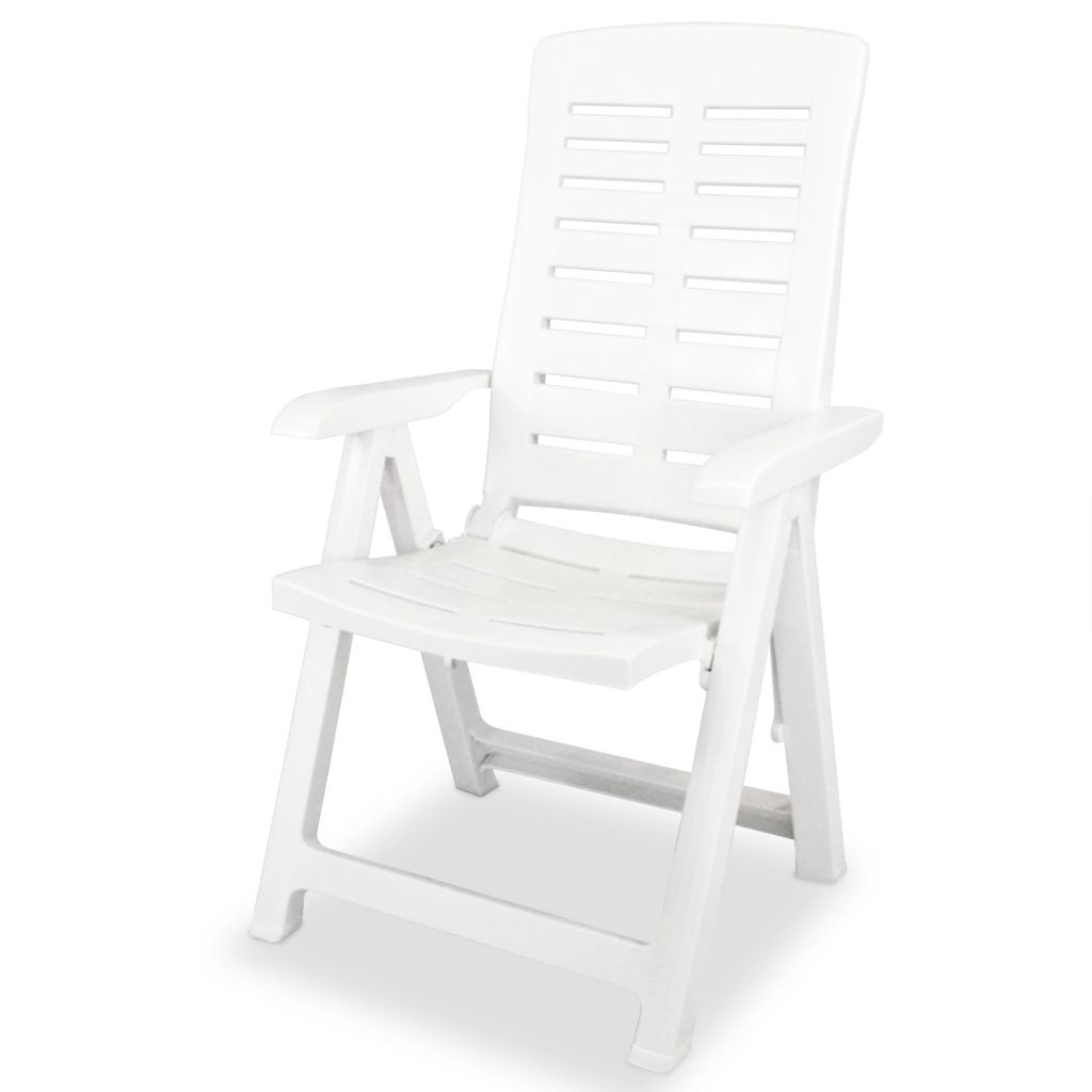 chaise inclinable de jardin 60 x 61 x 108 cm plastique blanc. Black Bedroom Furniture Sets. Home Design Ideas