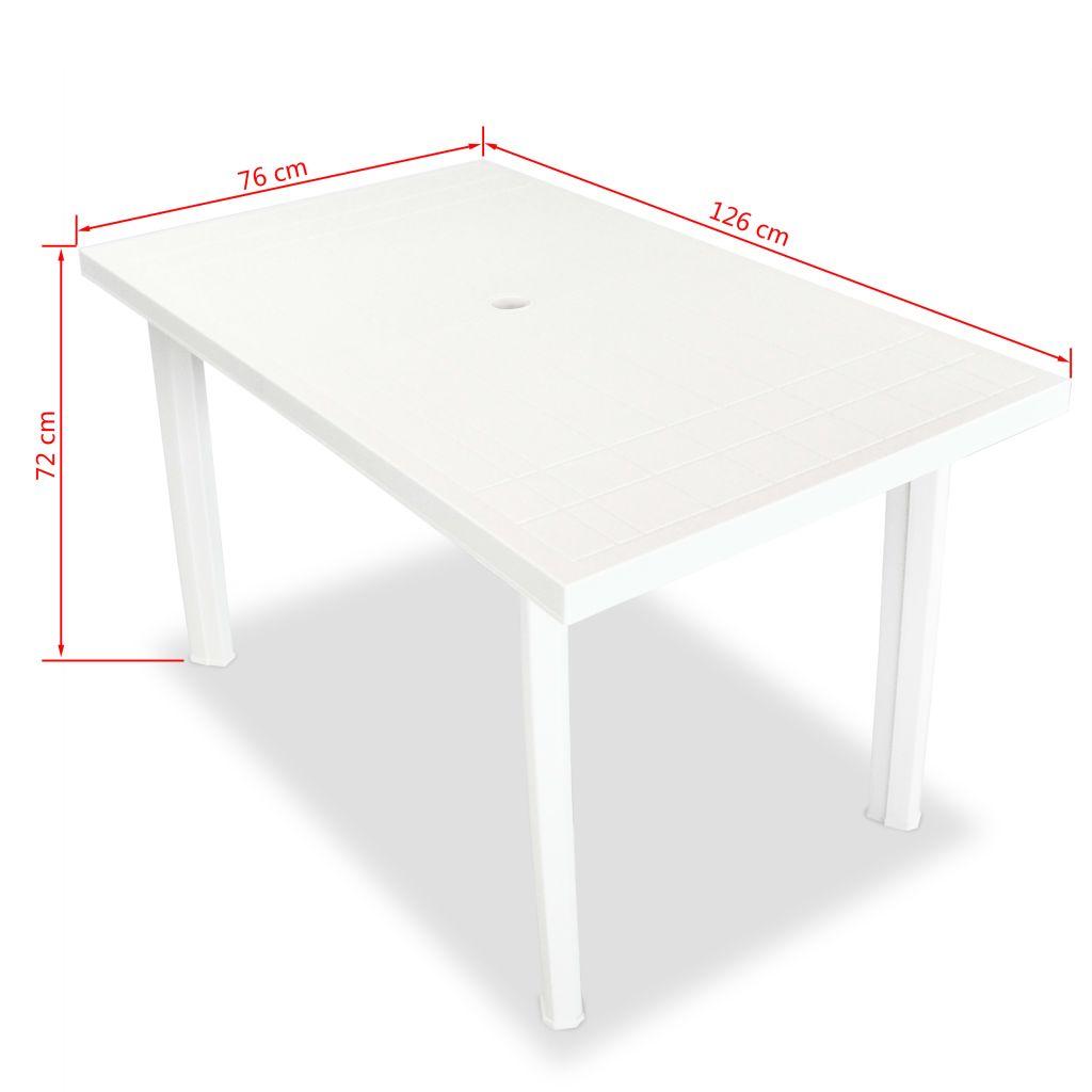 Dès 59.00€, Table de jardin 126 x 76 x 72 cm Plastique Blanc -  Interougehome.com