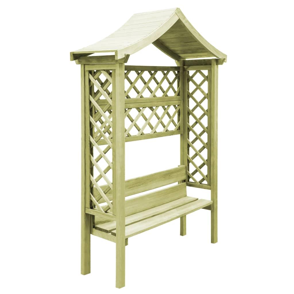 Dès 199.99€, Pergola de jardin avec toit et banc Bois de pin ...
