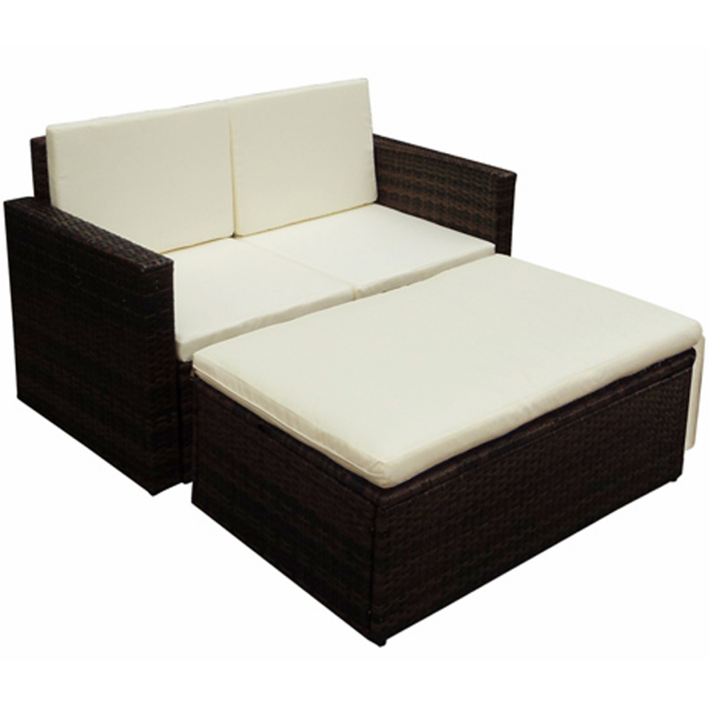 nur brown polyrattan gartenm bel set. Black Bedroom Furniture Sets. Home Design Ideas