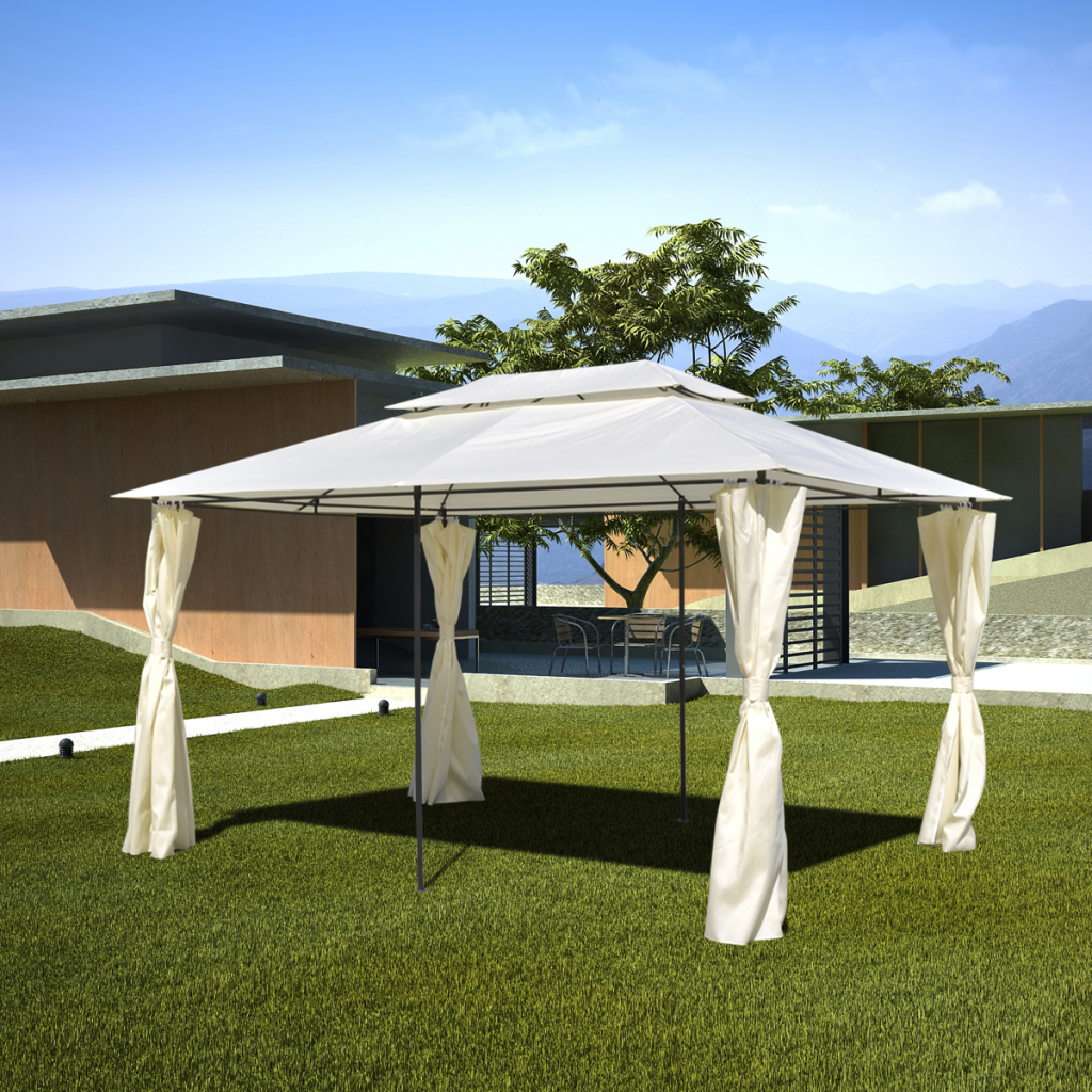 Garden Patio Gazebo Steel 10 X