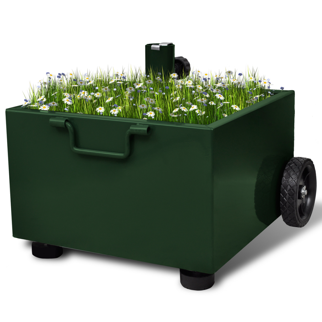 green outdoor umbrella stand plant pot green. Black Bedroom Furniture Sets. Home Design Ideas