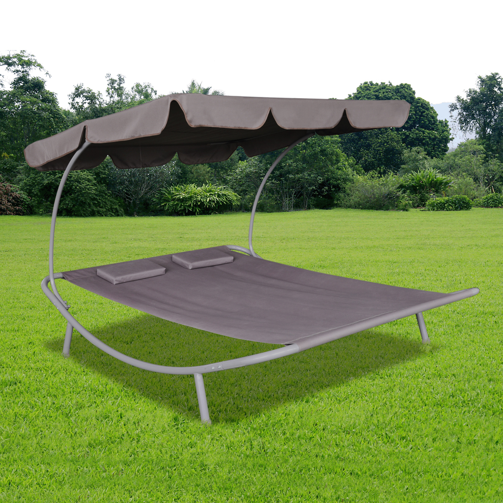 nur outdoor doppel sun bett mit baldachin 2. Black Bedroom Furniture Sets. Home Design Ideas