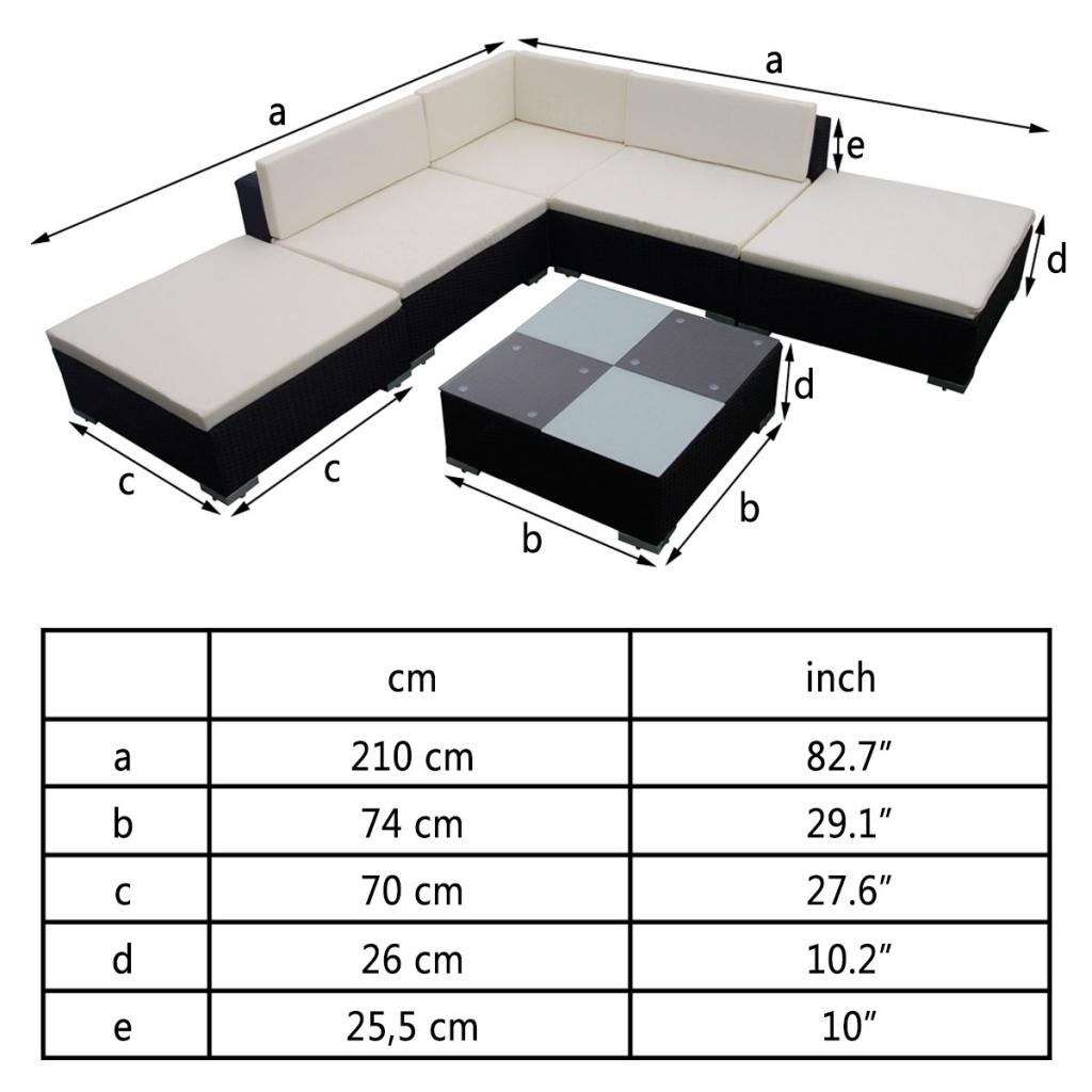 Sólo 521.81€, 15 PC Negro Poli Rattan Asiento Conjunto de muebles de ...