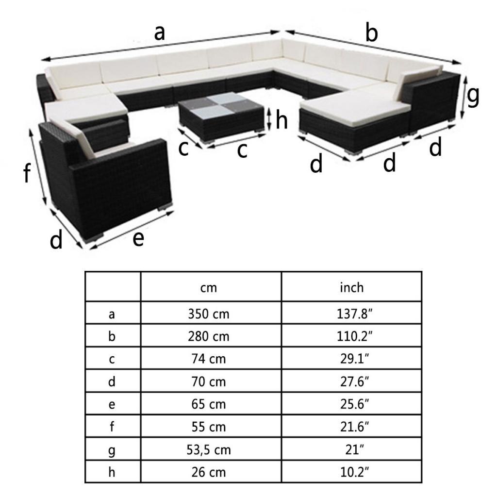 Sólo 898.13€, 35 PC Negro Poli Rattan Asiento Conjunto de muebles de ...