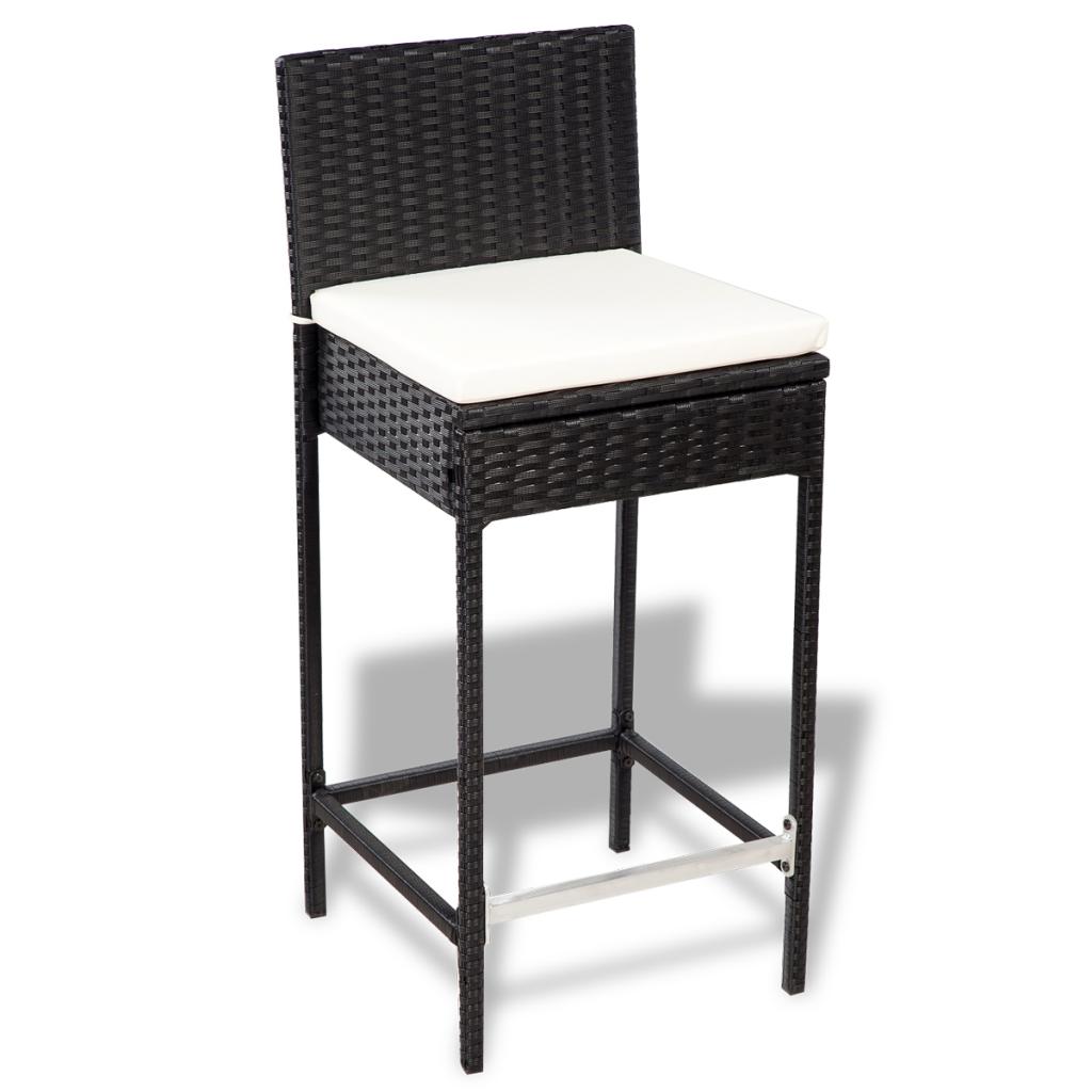 Nur 470.57€, Polyrattan Bar Möbel Set 6 Barhocker 1 Tisch mit ...