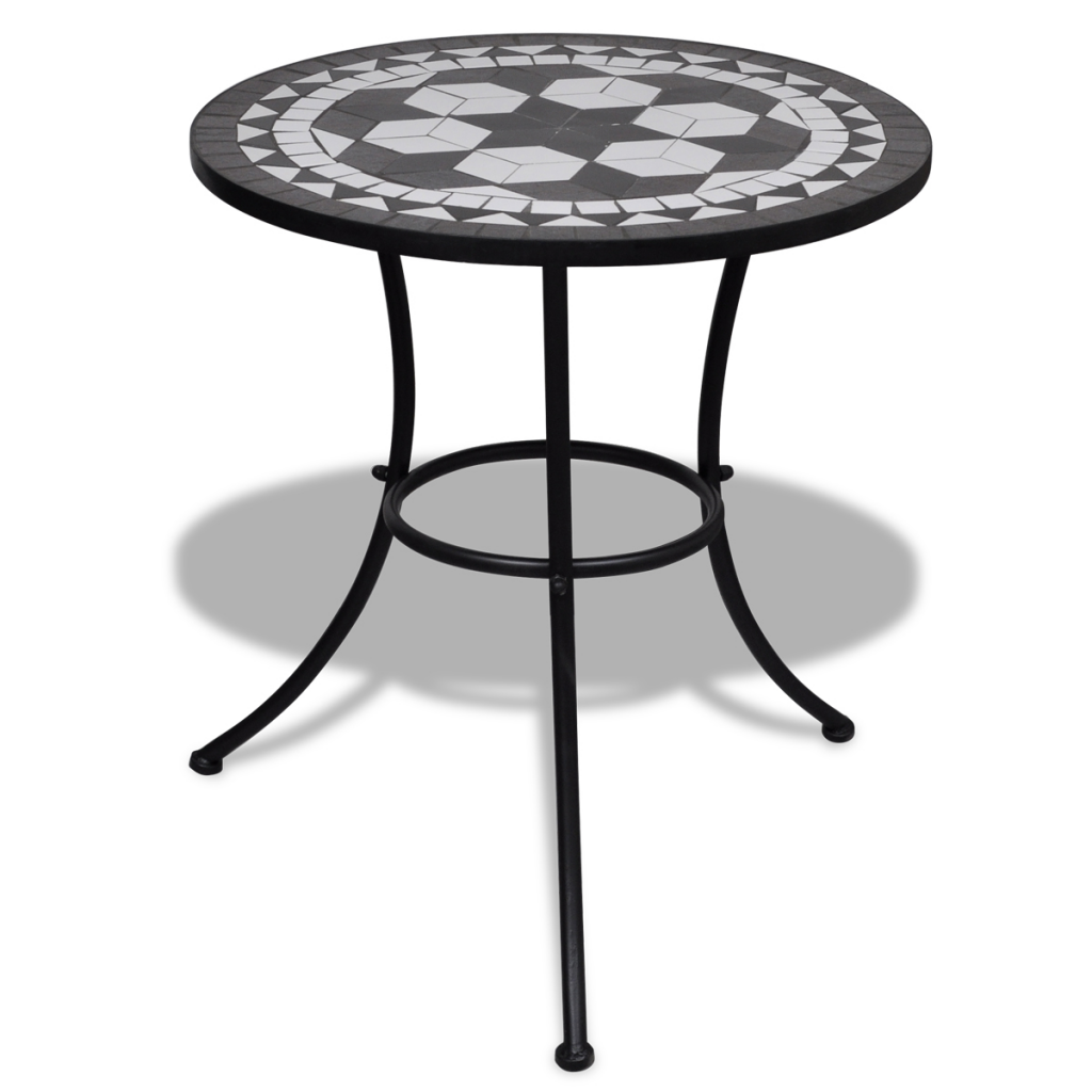 black black and white mosaic table color 60 cm. Black Bedroom Furniture Sets. Home Design Ideas