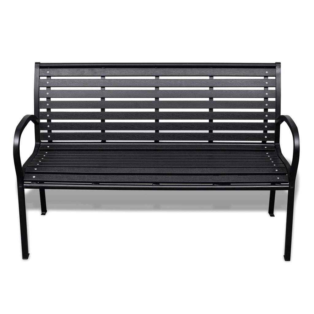 only banc de jardin avec cadre en acier. Black Bedroom Furniture Sets. Home Design Ideas