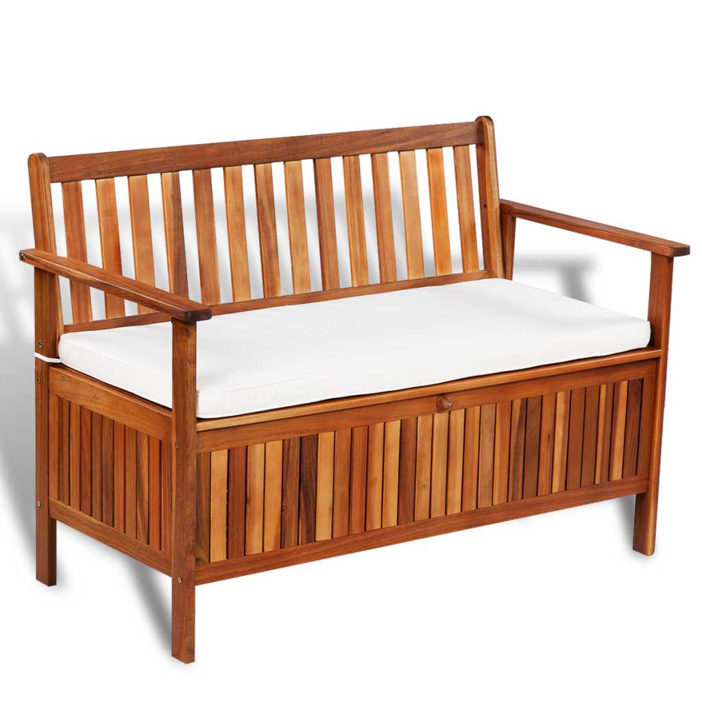 Outdoor Patio Storage Bench Acacia Wood
