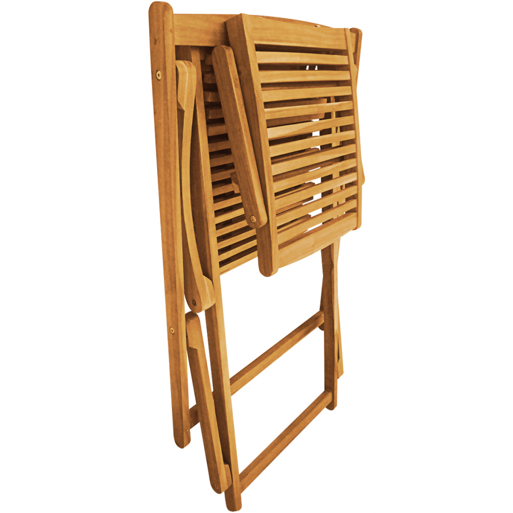 Deck Chair With Footrest Acacia Wood