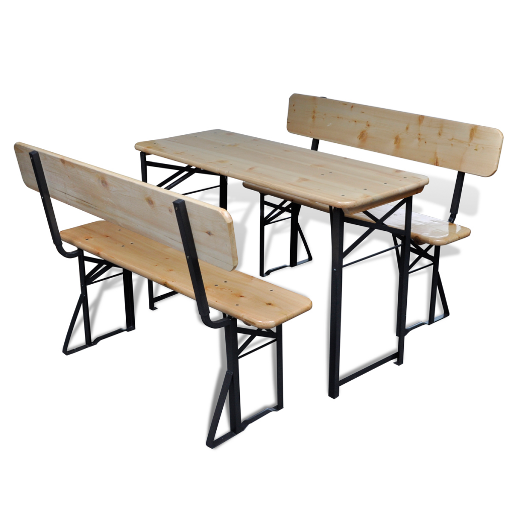 Foldable 2 Chairs Garden Beer Table Set  sc 1 st  LovDock.com & wood Foldable 2 Chairs Garden Beer Table Set - LovDock.com