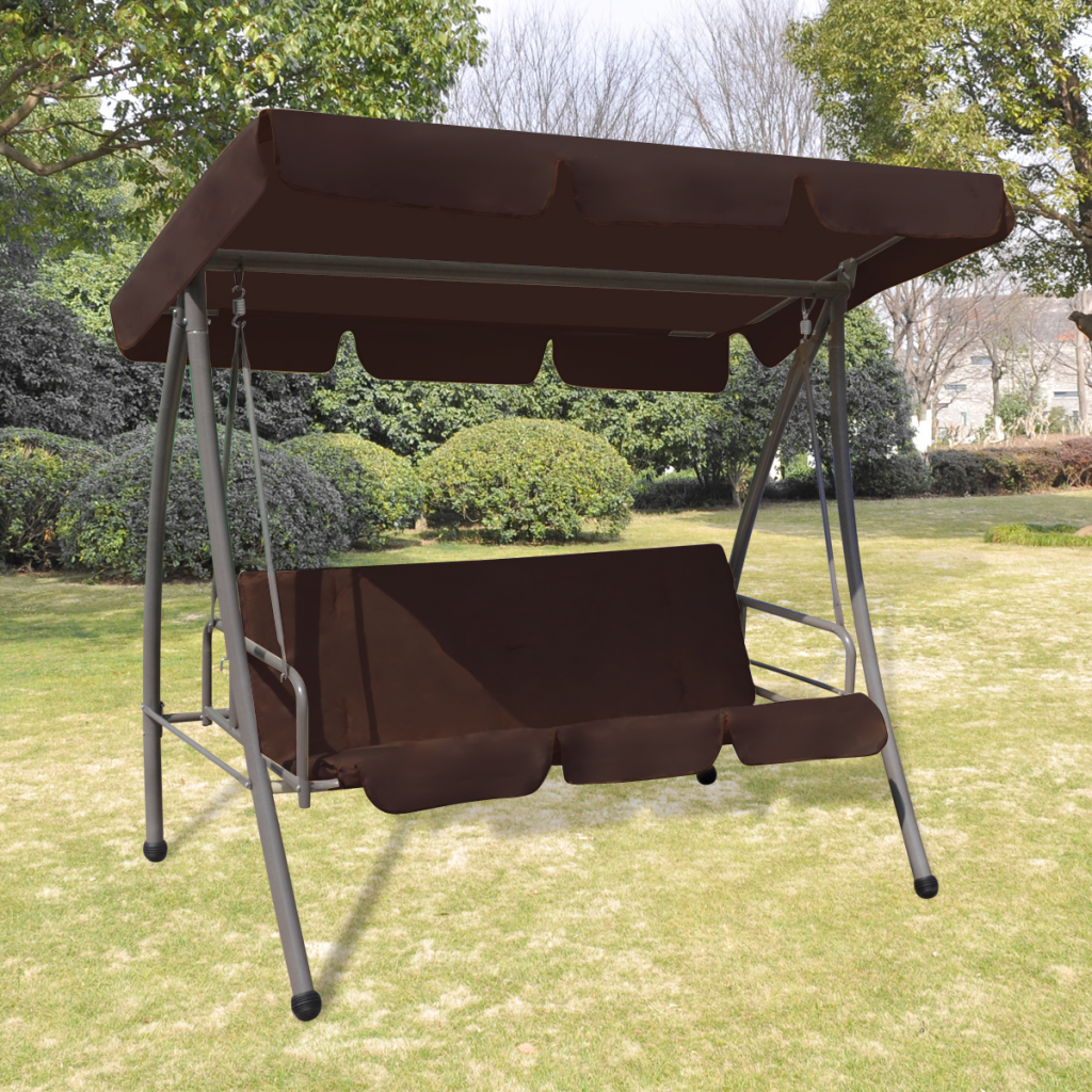 Outdoor Swing Chair / Bed With Canopy Coffee