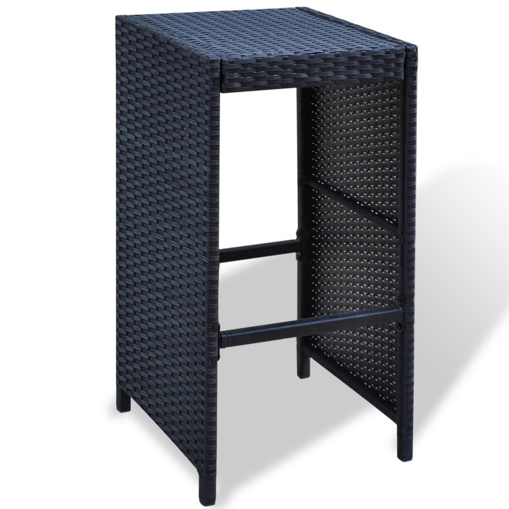 white black 13 pcs garden bar set poly rattan black. Black Bedroom Furniture Sets. Home Design Ideas