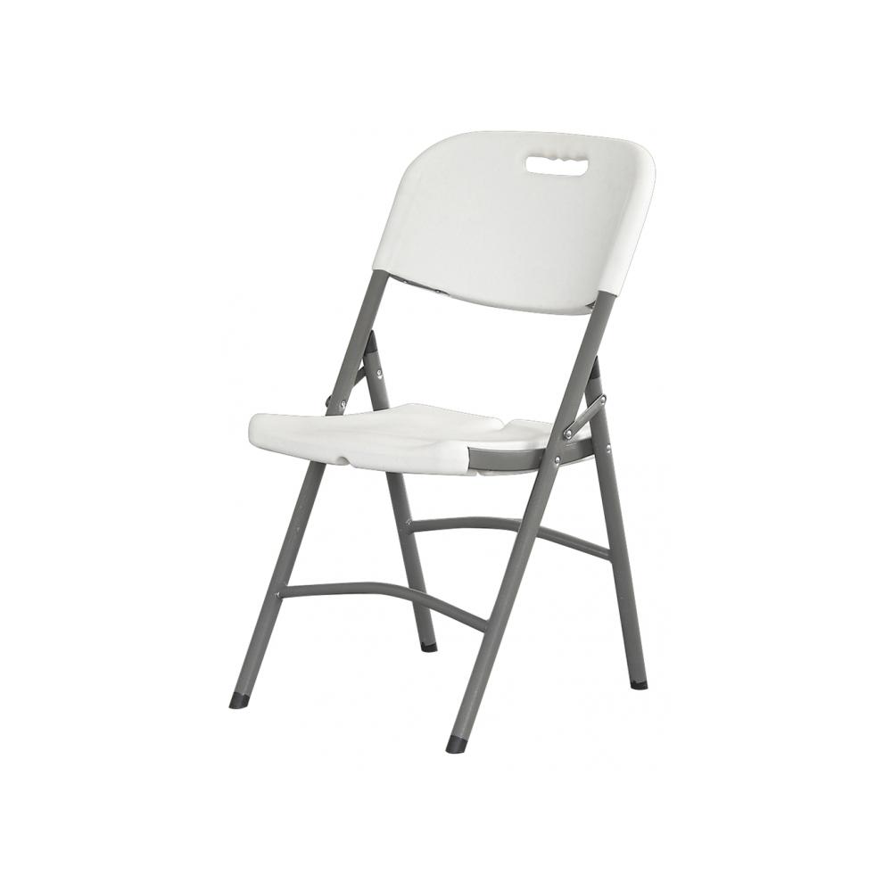 Chaise de jardin pliante premium en lot de 6 pi ces blanc for Chaise pliante