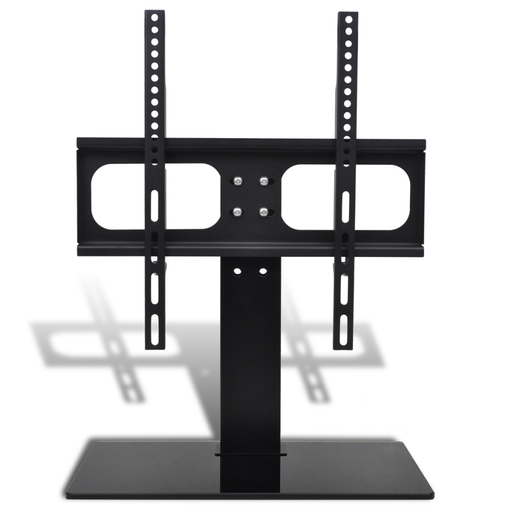 Black Tv Bracket With Base 15 7 X 15 7 For 23 55 Tv S  # Meuble Support Tv
