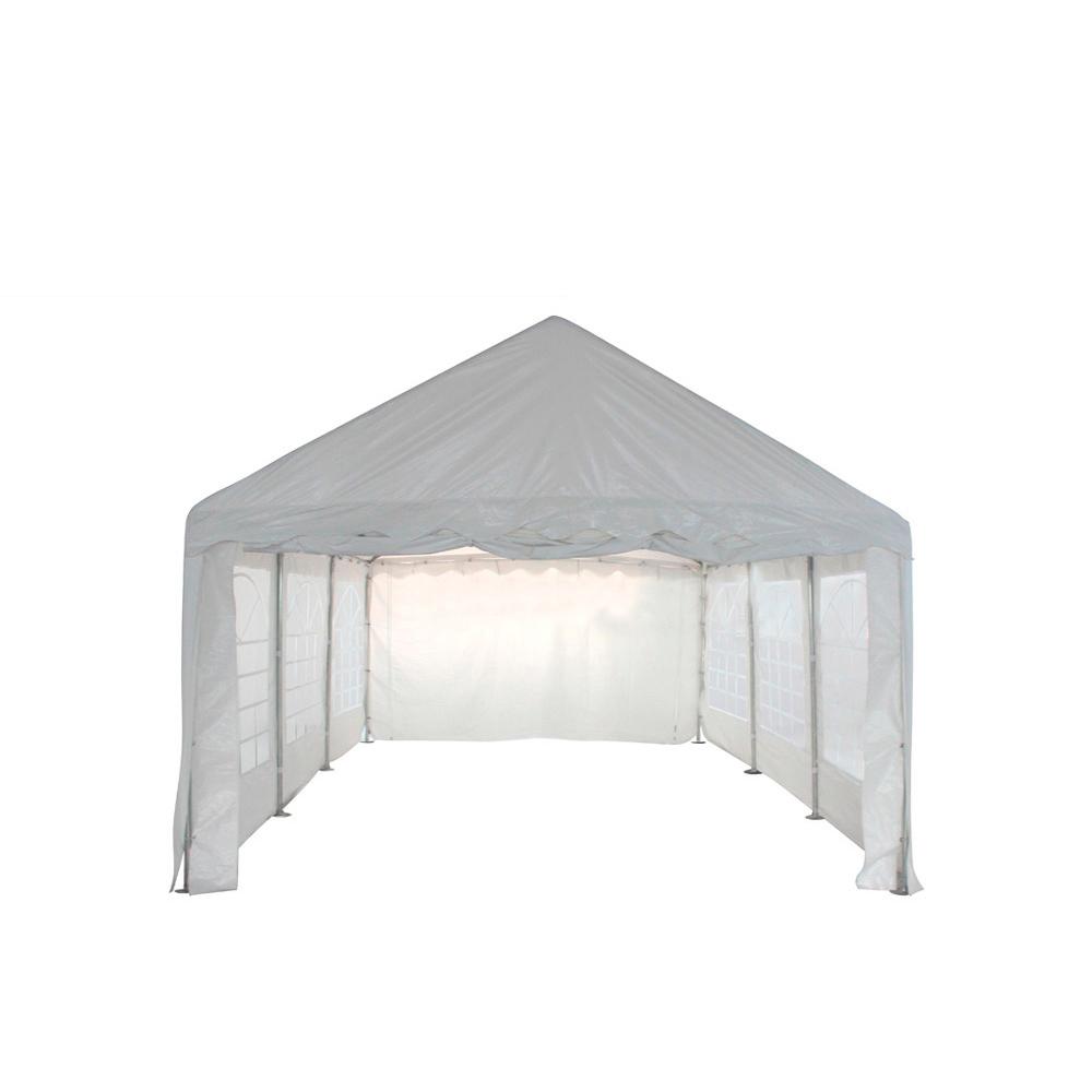 tente de r ception 5x6m pvc 480g m2 tube 38mm classique blanc uni. Black Bedroom Furniture Sets. Home Design Ideas