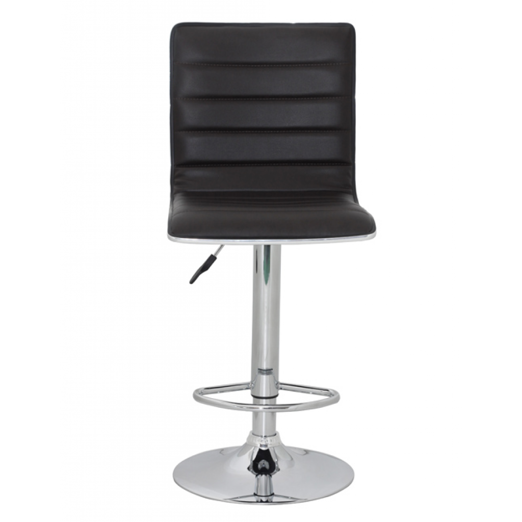 Brown Barstool Denver 2 Pieces With Backrest Brown