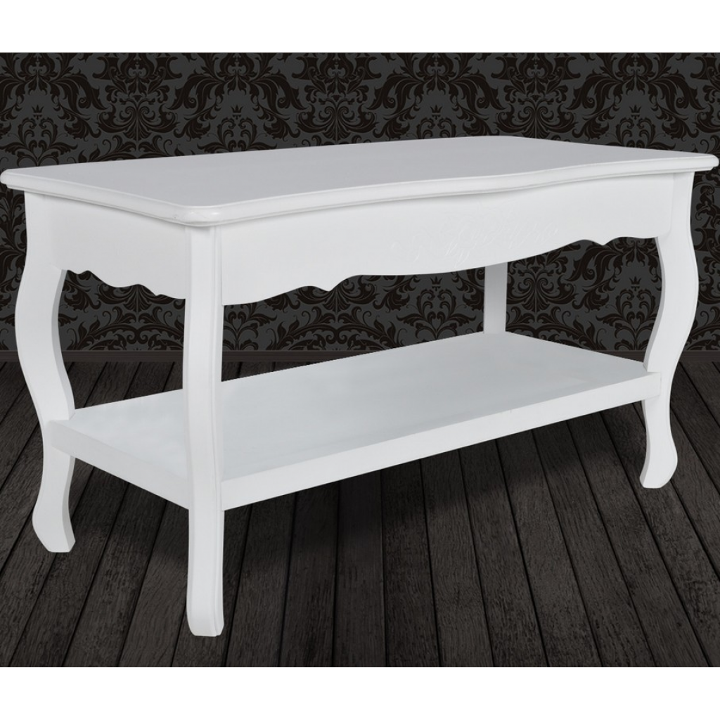 White Two Level Coffee Table LovDockcom - Two level coffee table