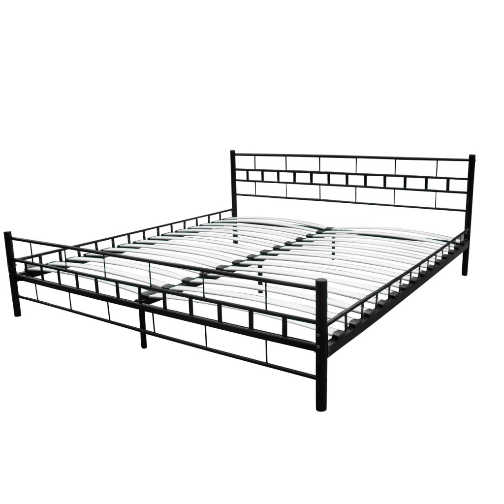lit 2 personnes noir. Black Bedroom Furniture Sets. Home Design Ideas