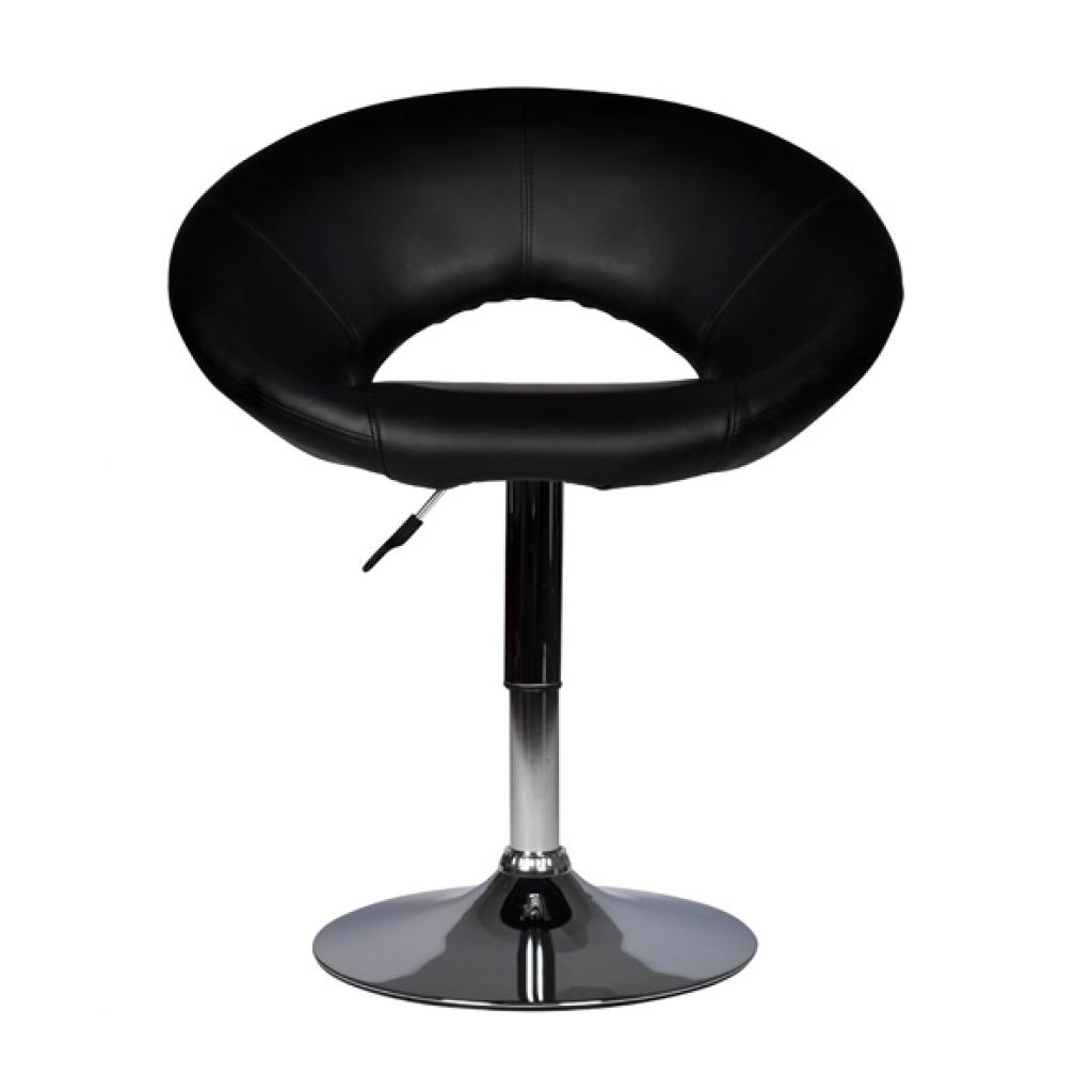 fauteuil de bar pivotant bulle noir. Black Bedroom Furniture Sets. Home Design Ideas