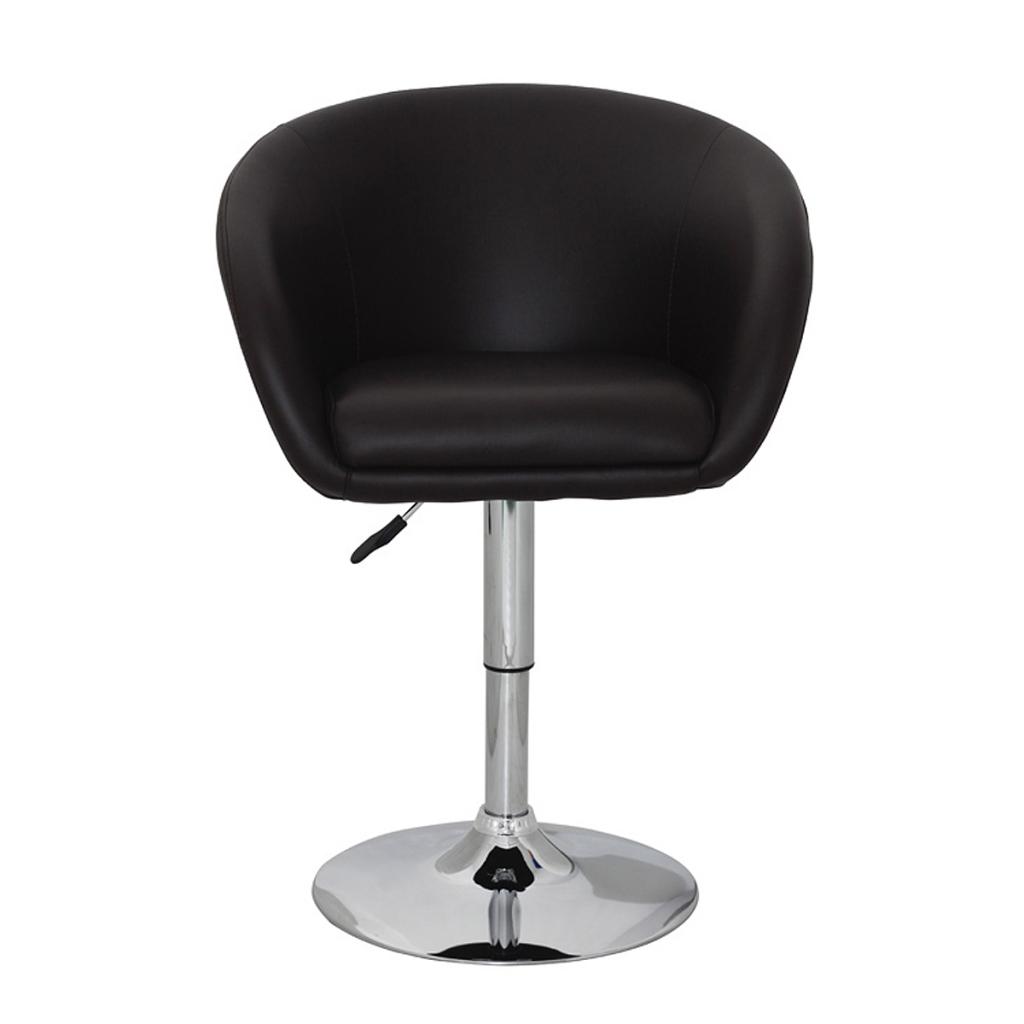 d s fauteuil rond pivotant en simili cuir marron. Black Bedroom Furniture Sets. Home Design Ideas