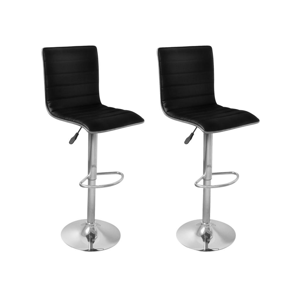 Nur 97.19€, Hocker-Stühle Küche oder Bar Oslo Öko-Leder, 2 Schwarze ...