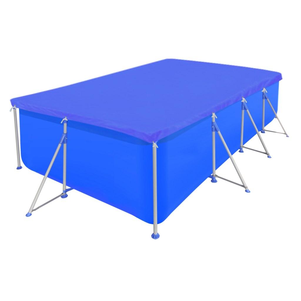 bâche piscine rectangulaire en pe 394 x 207 cm 90 gm² à