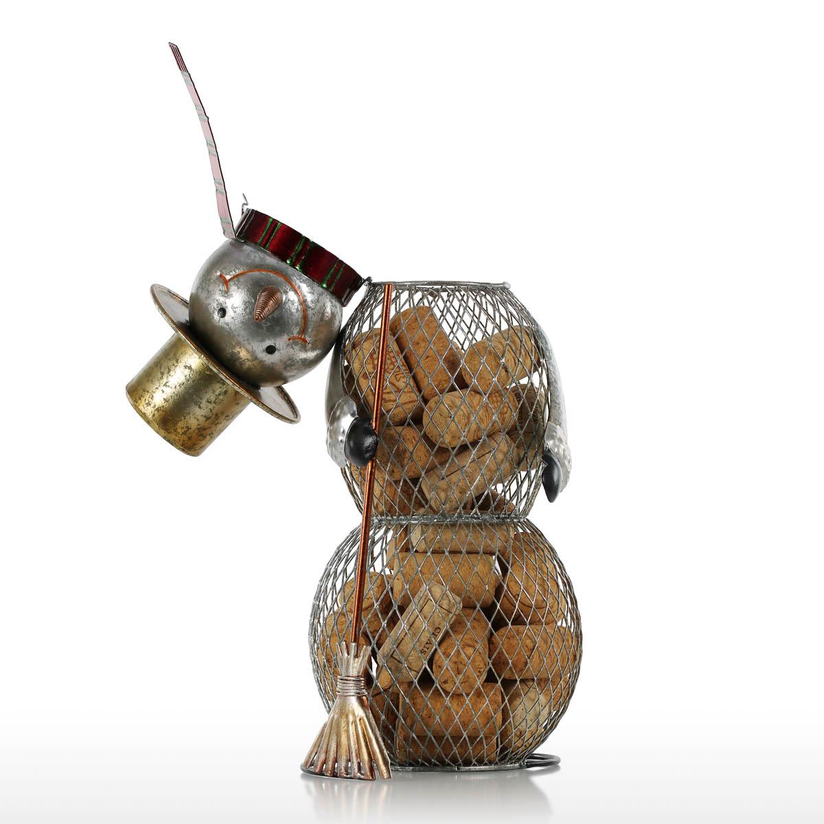 Weihnachten Schneemann Kork Container Metall Handwerk Heim ...