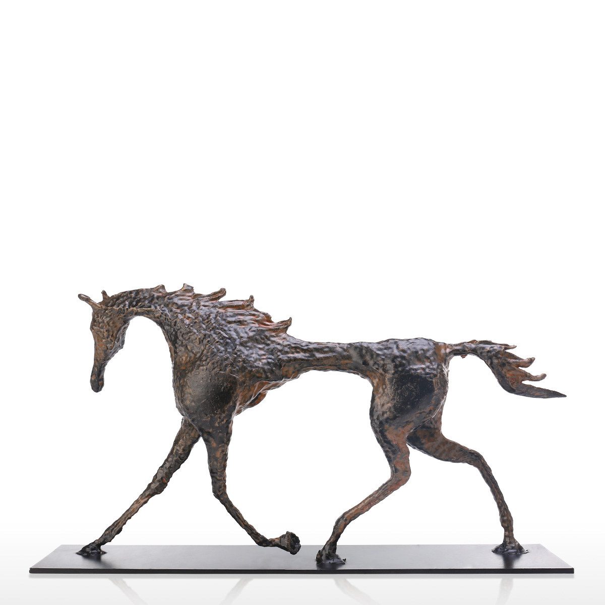Tooarts Art Decor Tribute To Giacometti Collection Iron Casting Horse Sculpture Exquisite Handcraft Ideal Art