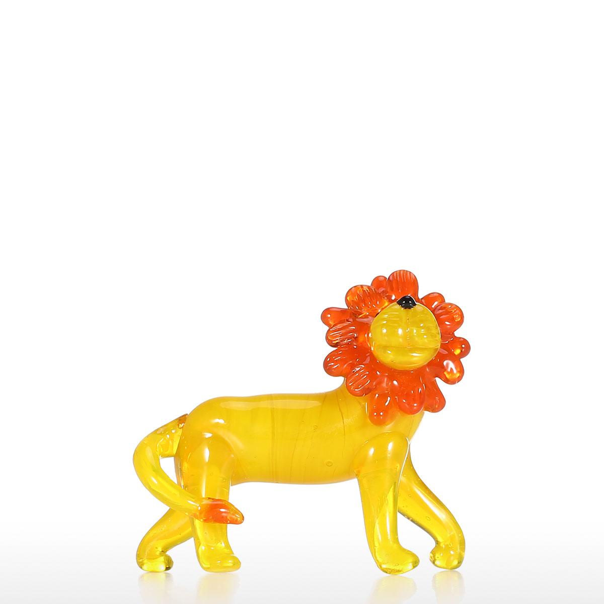 Mejor y barato Pequeño león ornamento de cristal Animal estatuilla ...