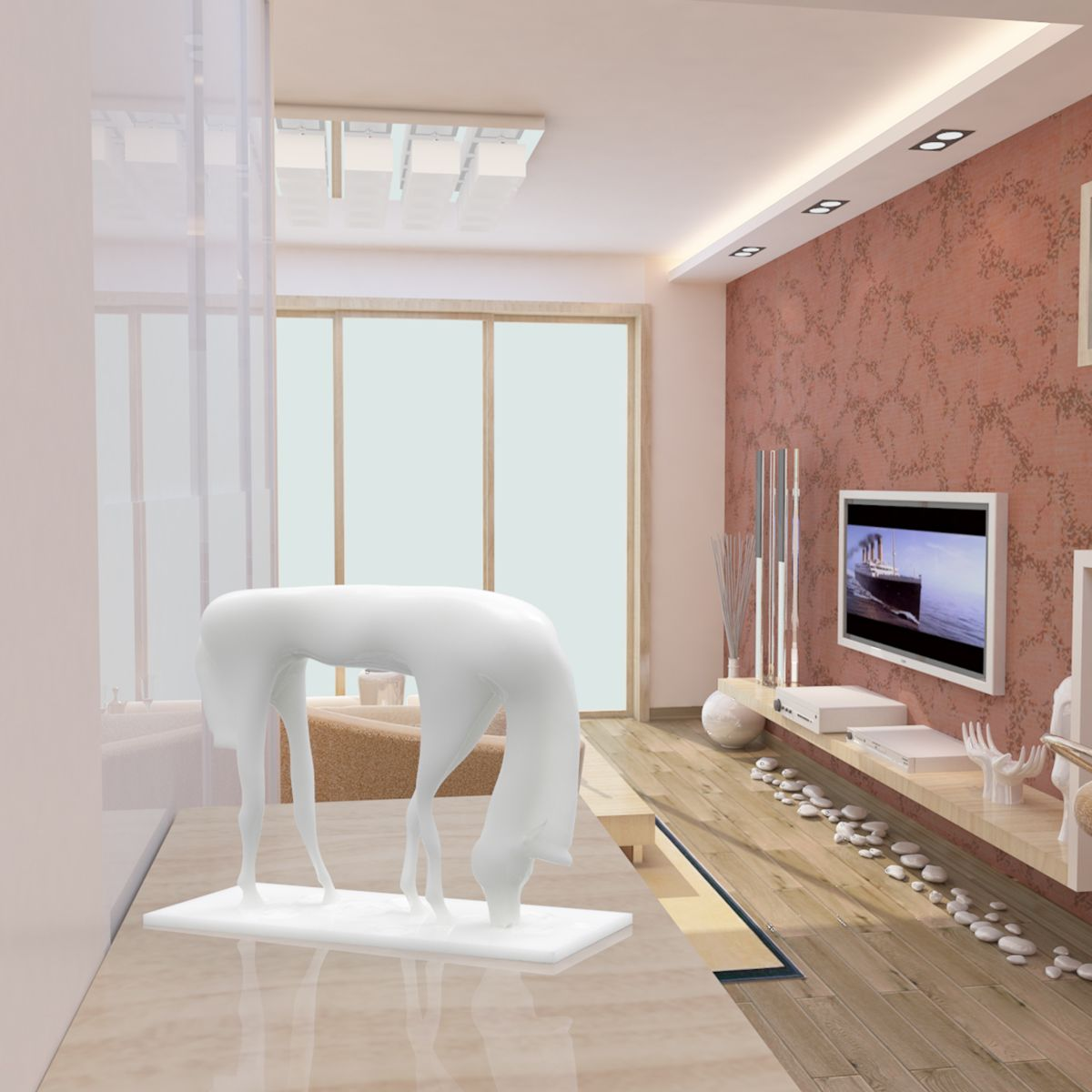 Best and cheap white Tomfeel Drinking Water Horse 3D Printed ...