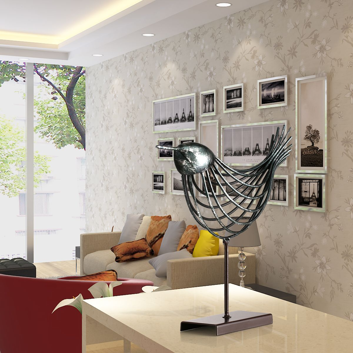 Best And Cheap Green Tooarts Iron Wire Bird Metal