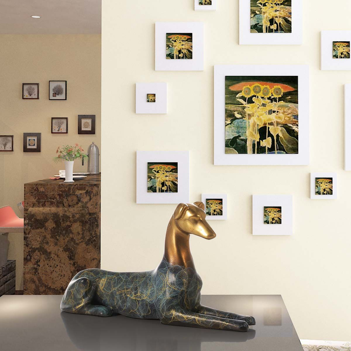 Best and cheap bronze Hound Dog Handmade Bronze Sculpture Modern Art ...