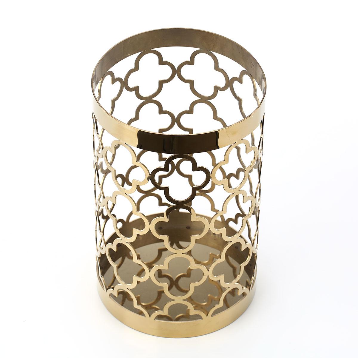 Best And Cheap Golden Hollow Flower Pot Metal Ornament Vase Hollow
