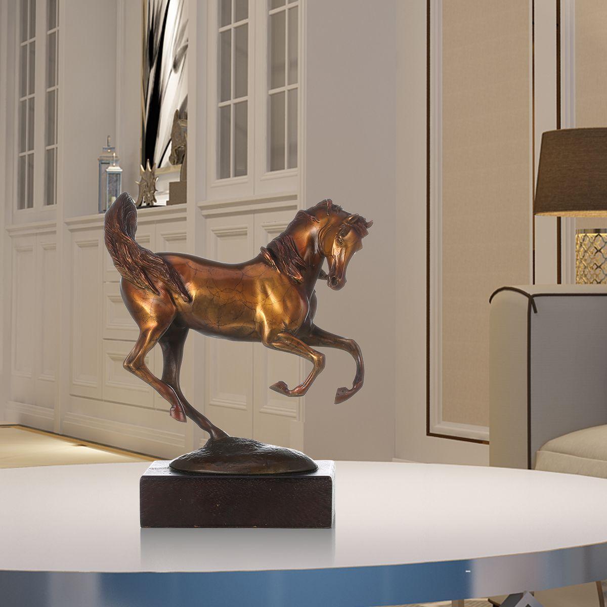 Rushing Horse Tooarts Handmade Bronze Sculpture Modern Art Home Decor