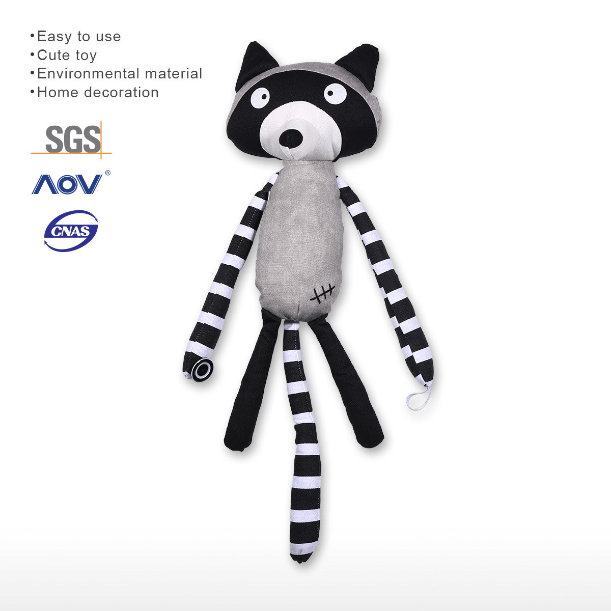 Raccoon Curtain Tieback Lovely Curtain Holdback Kid Child Infant Nursery  Bedroom Living Room Tieback