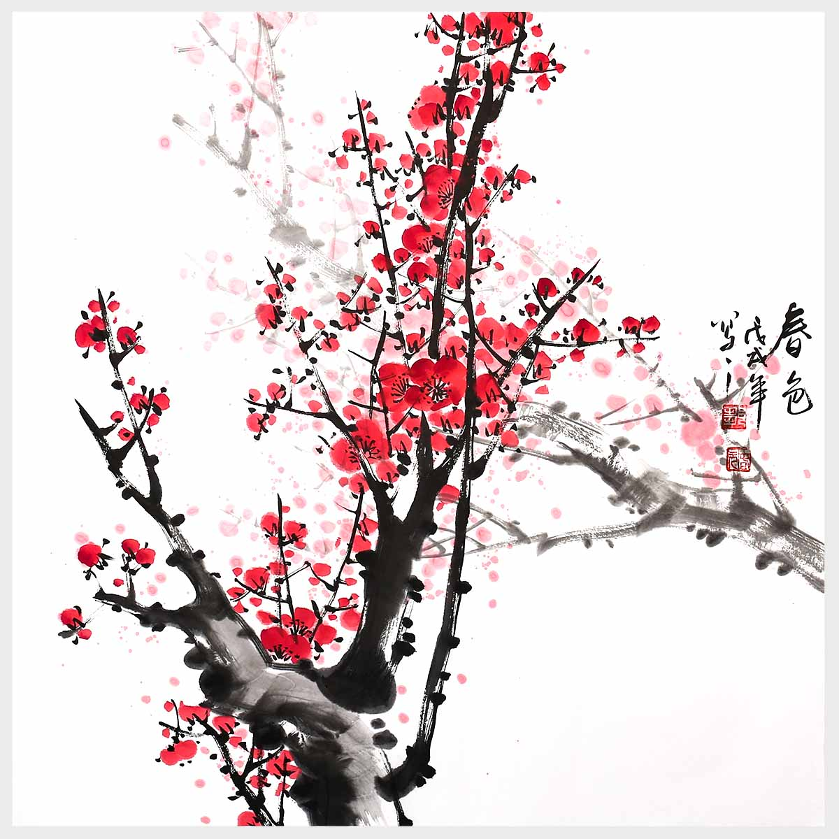 Wall Painting Art Flowers