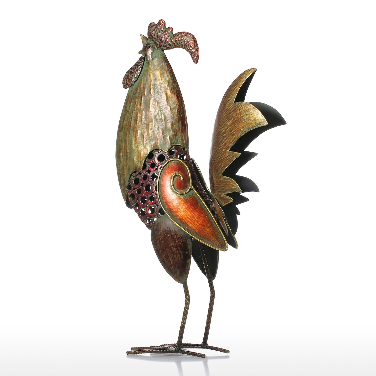 Tooarts Metal Figurine Iron Rooster Home Decor Articles: Best And Cheap Red Tooarts Iron Rooster Home Decor Iron