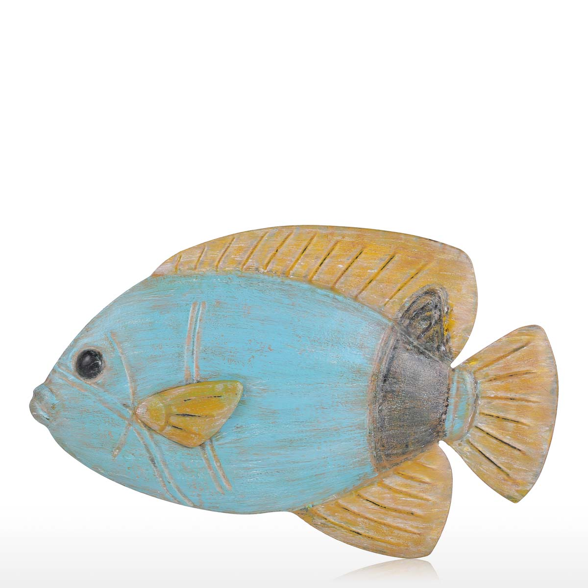 Best and cheap color4 fish wall hanging 1 iron wall decor for Fish wall hanging